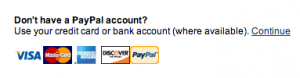 Don't have PayPal?